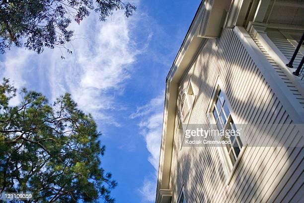 Blu sky and house