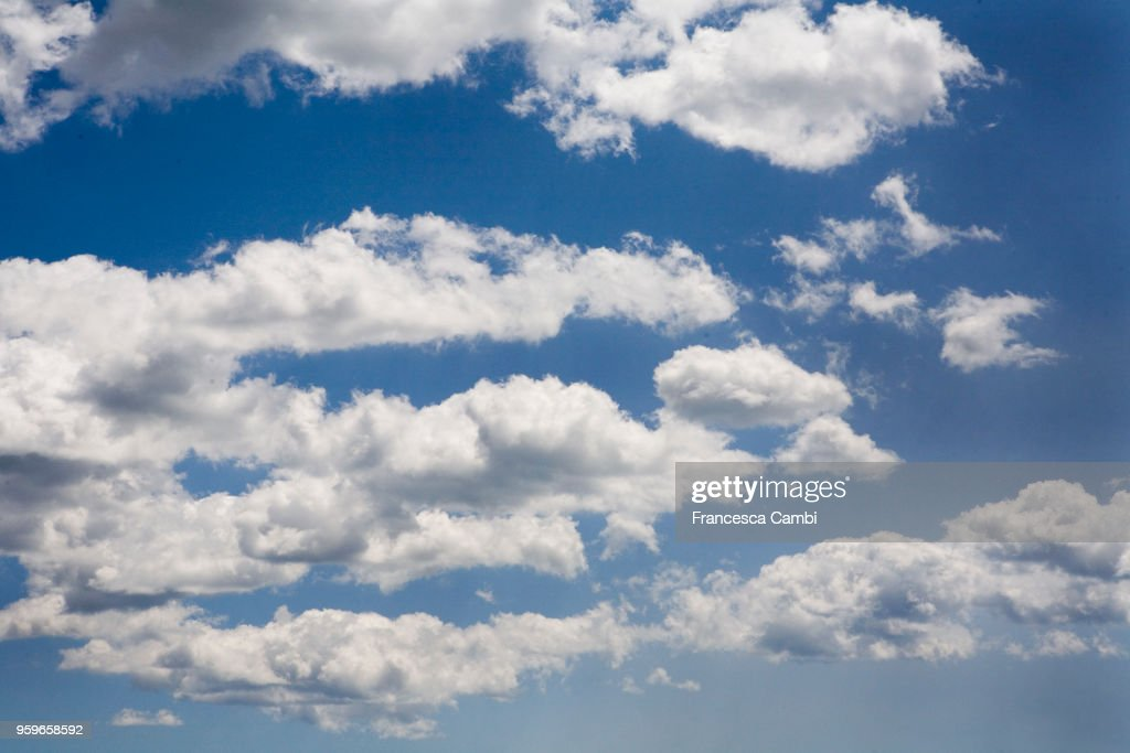 Blu sky with white clouds : Stock-Foto