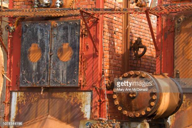 blubber furnace - atlantic islands stock pictures, royalty-free photos & images