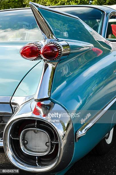 blue 1959 cadillac - 1950 1959 stock pictures, royalty-free photos & images