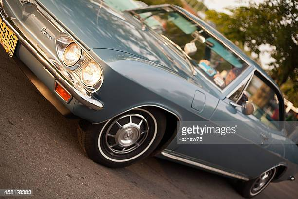 blue 1966 chevrolet corvair - bedford nova scotia stock pictures, royalty-free photos & images