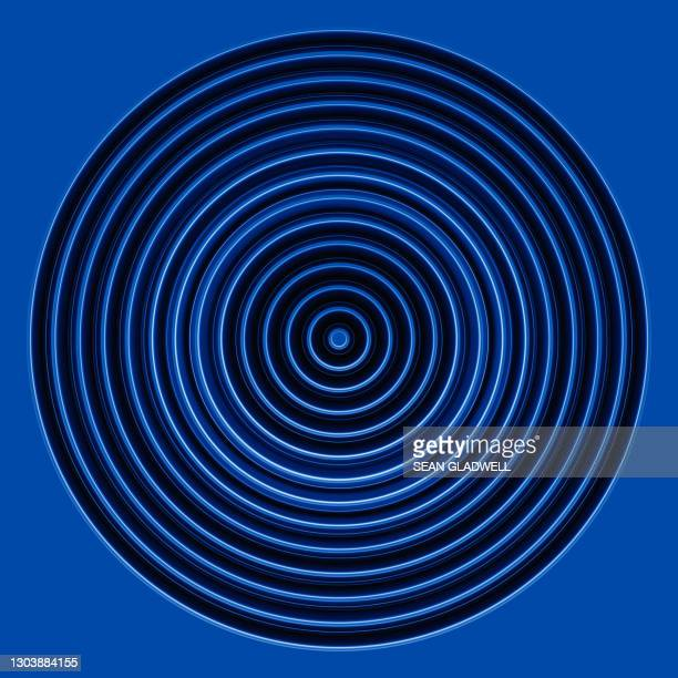 blue abstract circles - circle stock pictures, royalty-free photos & images