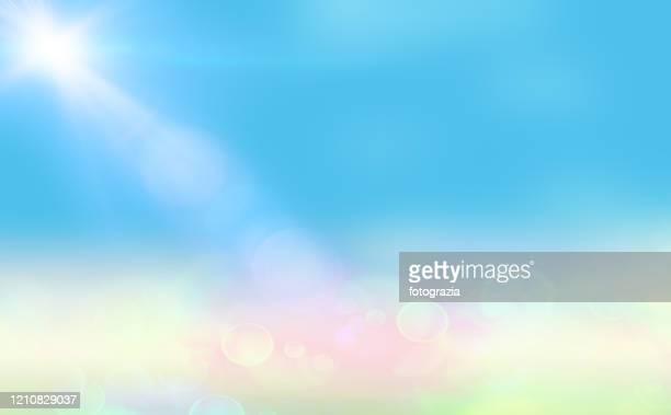 blue abstract landscape - helder stockfoto's en -beelden