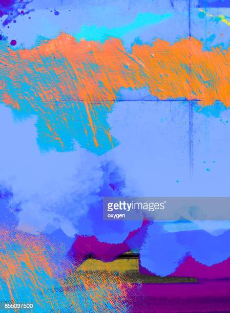 Blue abstract painted marble illustration