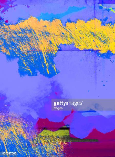 blue abstract painted marble illustration - glitch art stock photos and pictures