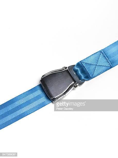 Blue aeroplane's seat belt