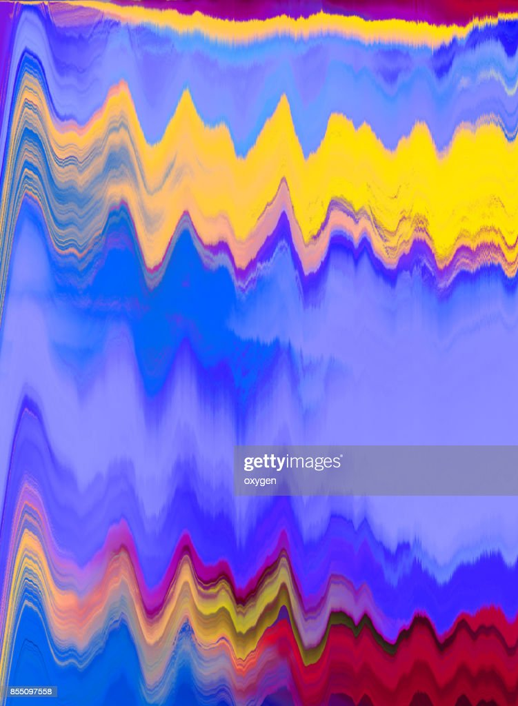 Blue and Golden abstract painted marble illustration : Stock Photo
