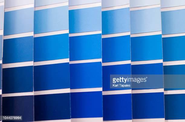 Blue and light blue color pallette