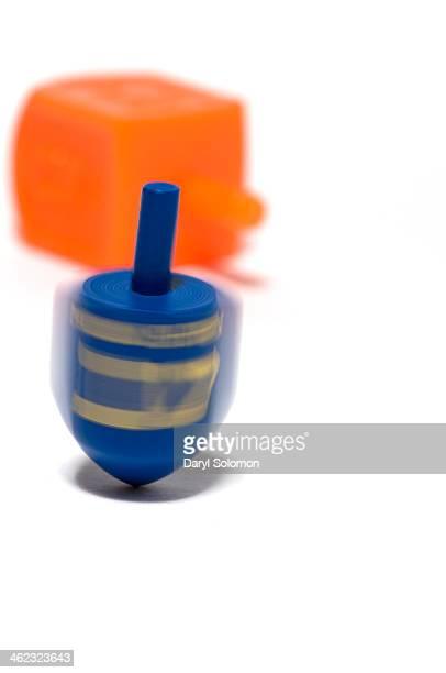 Blue and orange dreidel