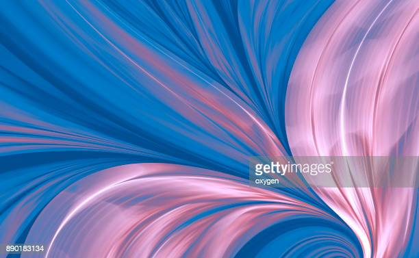 Blue and Pink Abstract Background, Flame Feather