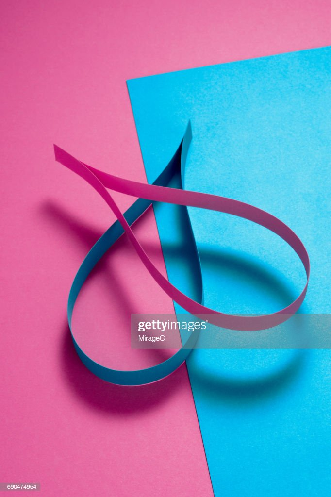 Blue And Pink Color Contrast Fusion Stock Photo