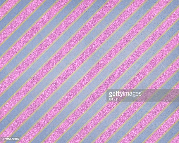 blue and pink glitter stripe paper