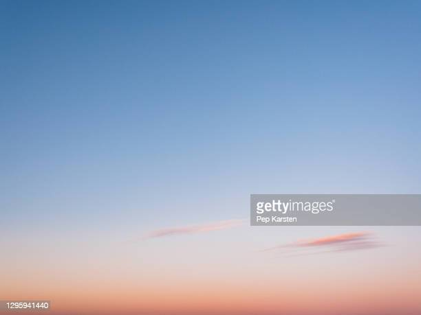 blue and pink sunset sky - alpes maritimes stock pictures, royalty-free photos & images