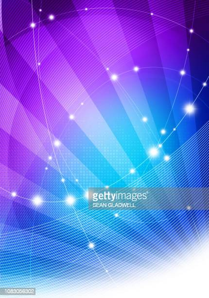 blue and purple graphic network - website template stock photos and pictures