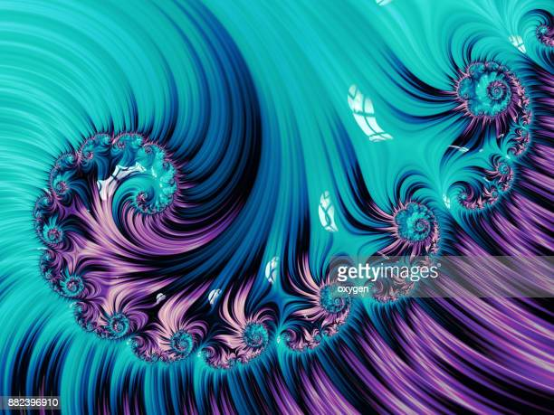 Blue and Violet Spiral Abstract Fractal pattern
