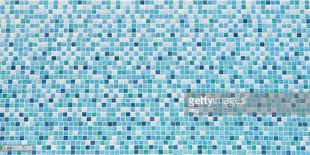 blue and white bathroom tile background - bathroom stock photos and pictures