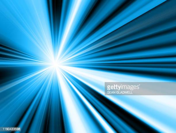 blue and white bright stripes - motion stock pictures, royalty-free photos & images
