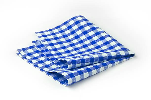 green and white checkered paper napkins