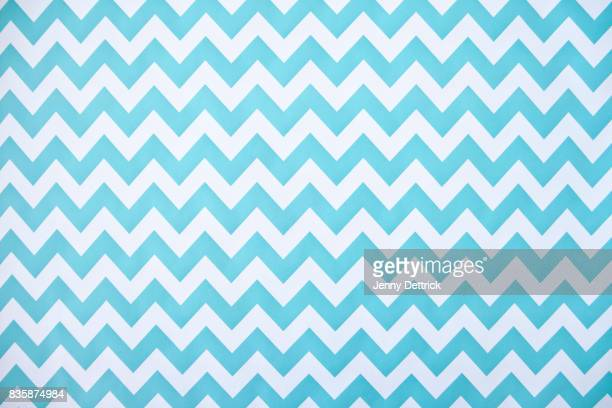 blue and white chevron pattern - motivo ornamentale foto e immagini stock