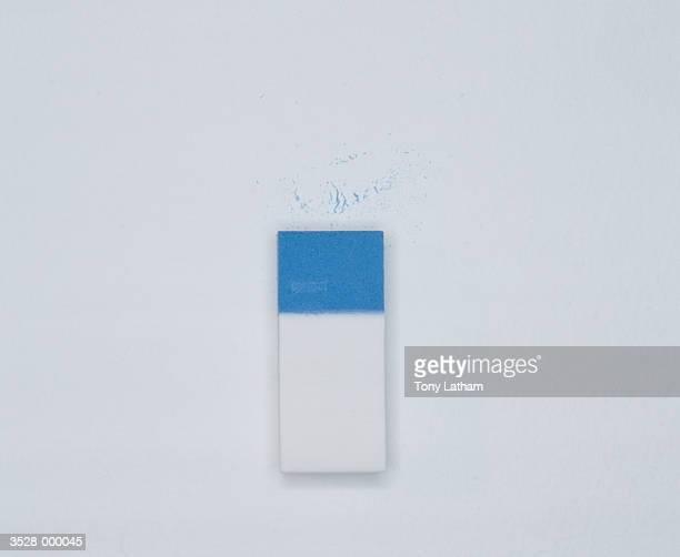 Blue and White Eraser