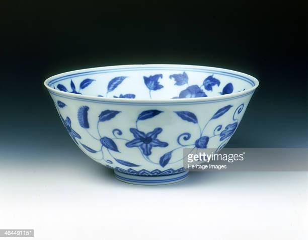 Blue and white palace bowl in Chenghua style late Kangxi period Qing dynasty China 17001722 A Chenghua style palace bowl decorated in underglaze blue...