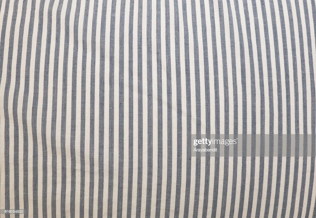 Blue and White Stripes Fabric Pattern Background : Stock Photo