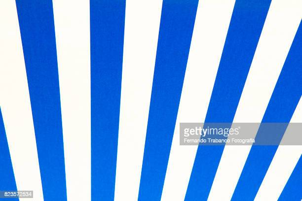 Blue and white stripped awning