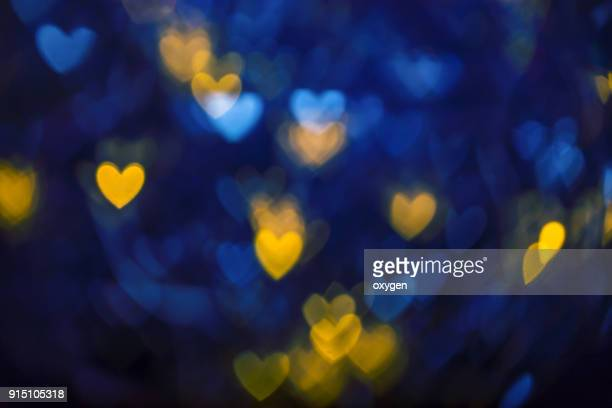 Blue and Yellow Abstract background with heat bokeh