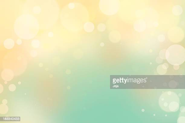 Blue and yellow bokeh background