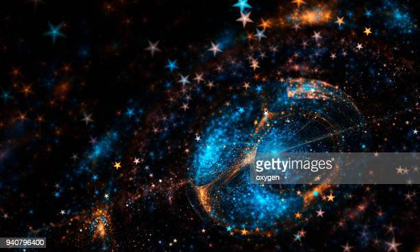 blue and yellow space stars - space exploration stock pictures, royalty-free photos & images