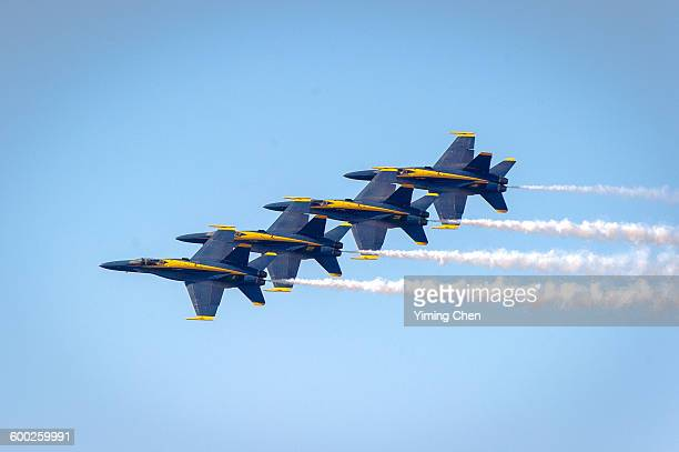 blue angels air show - navy stock pictures, royalty-free photos & images