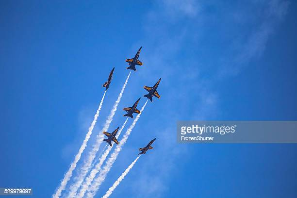 us navy blue angels squadron - blue angels stock pictures, royalty-free photos & images