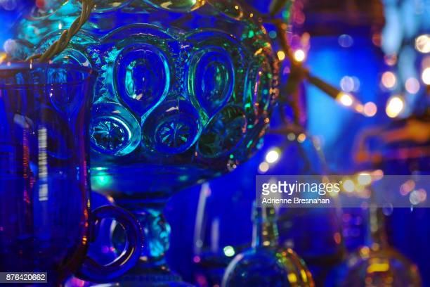 Blue Antique Glass Arrangement