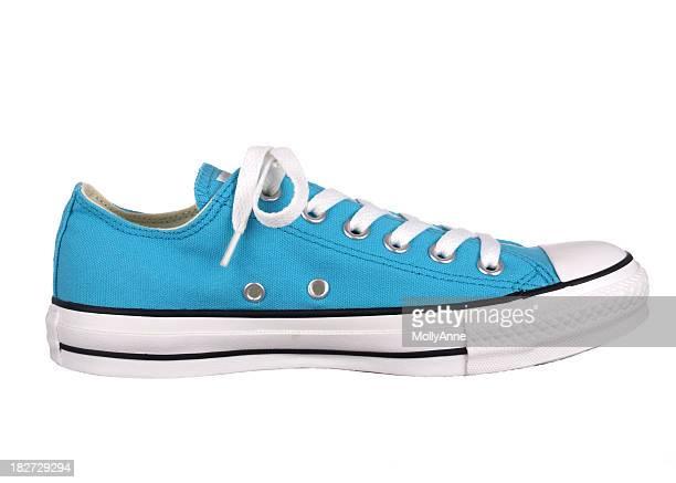 Blue Athletic Shoe on White