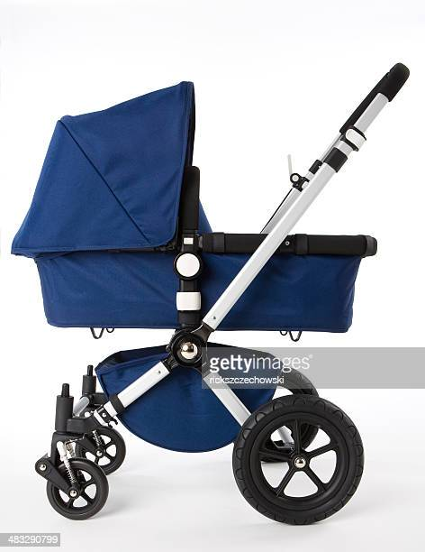 blue baby buggy - carriage stock pictures, royalty-free photos & images
