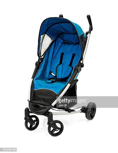 blue baby strollers - pushchair stock pictures, royalty-free photos & images