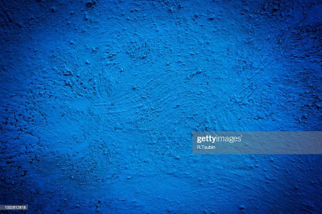 Blue background wall texture with dark edges : Stock Photo