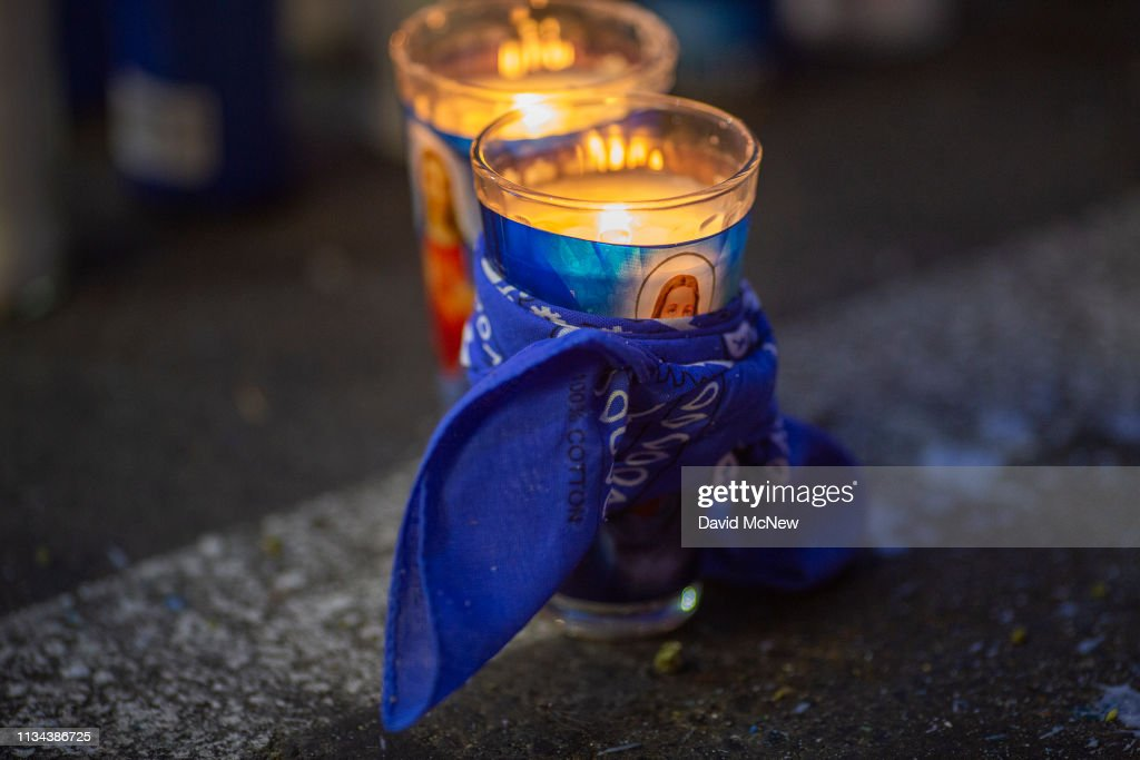 Fans Pay Respect At Scene Where Hip Hop Musician Nipsey Hussle Was Fatally Shot In Los Angeles : News Photo