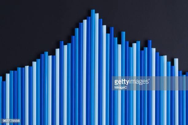 Blue Bar Graph Peak Value
