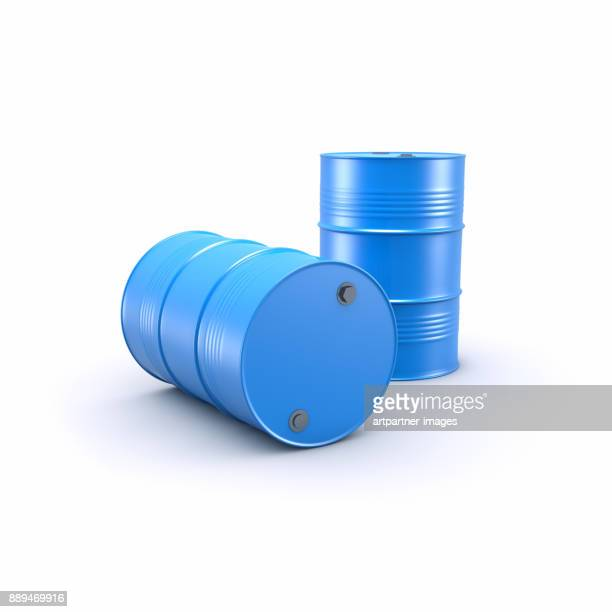 blue barrels - oil barrel stock pictures, royalty-free photos & images