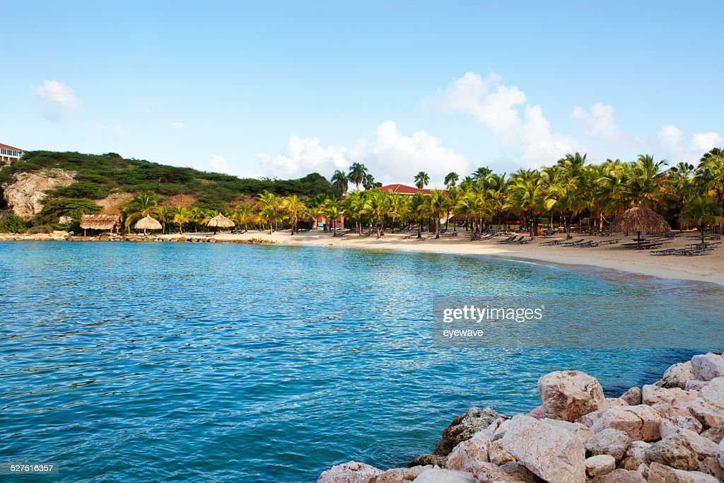 Blue Bay beach, Curacao : Stock Photo