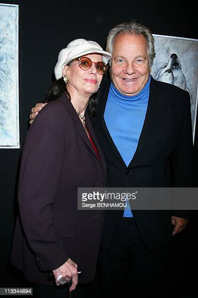 'Blue Bear' Exhibition At The Palais De La Decouverte In Paris France On September 22 2008 Claudine Auger and Massimo Gargia