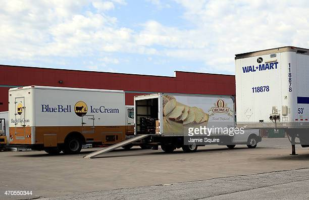 Blue Bell Ice Cream truck is seen outside a WalMart store after Blue Bell Creameries recalls all products following a Listeria contamination on April...