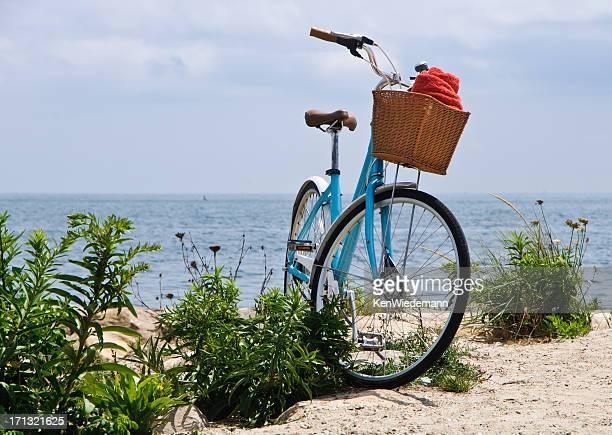 Blue Bike on the Beach
