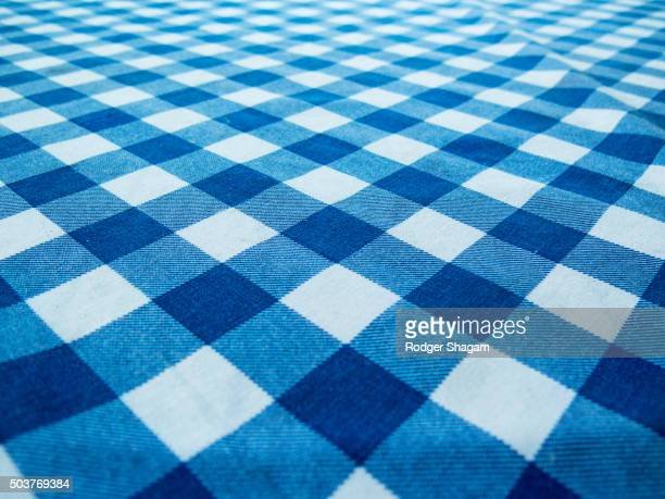 Blue bistro tablecloth