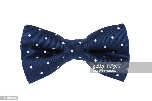 blue bow tie isolated on white background - bow tie stock pictures, royalty-free photos & images