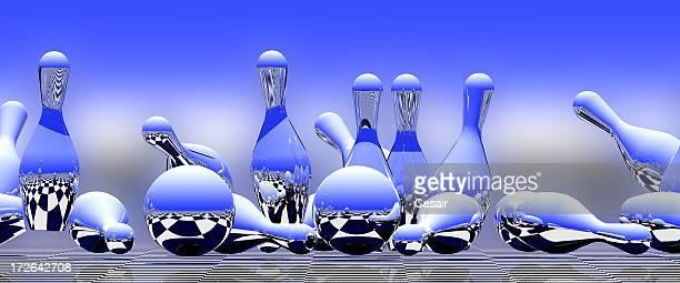 Blue Bowling-Maske