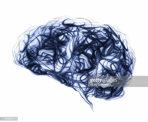 blue brain waves - illustration stock pictures, royalty-free photos & images