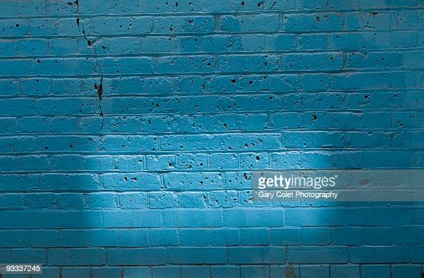 blue brick wall - gary colet stock pictures, royalty-free photos & images