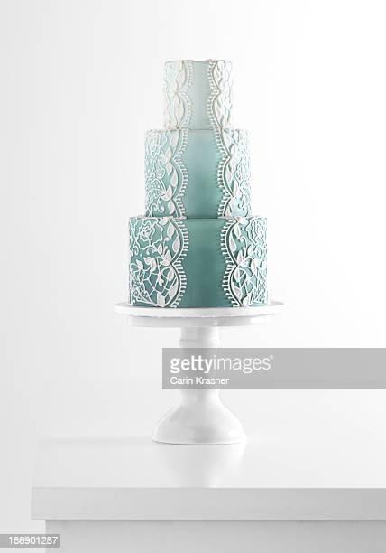 Blue Bridal Cake